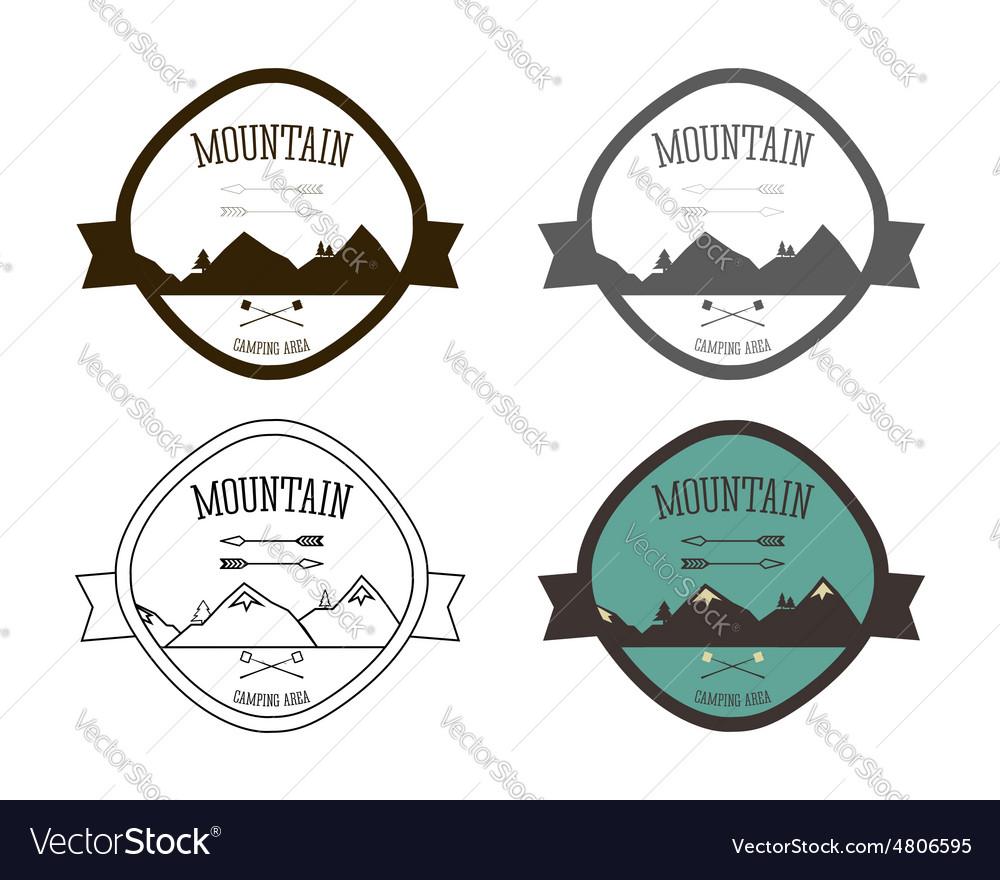 Set of Mountain campsite logo templates Outdoor