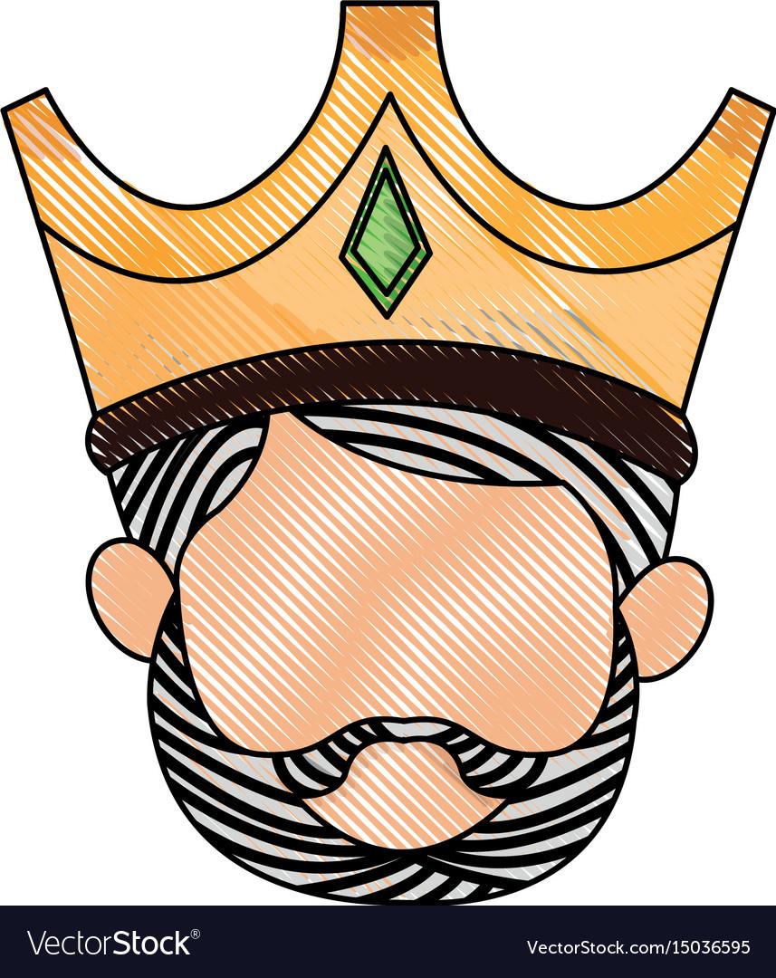 Wise king manger character catholic image vector image