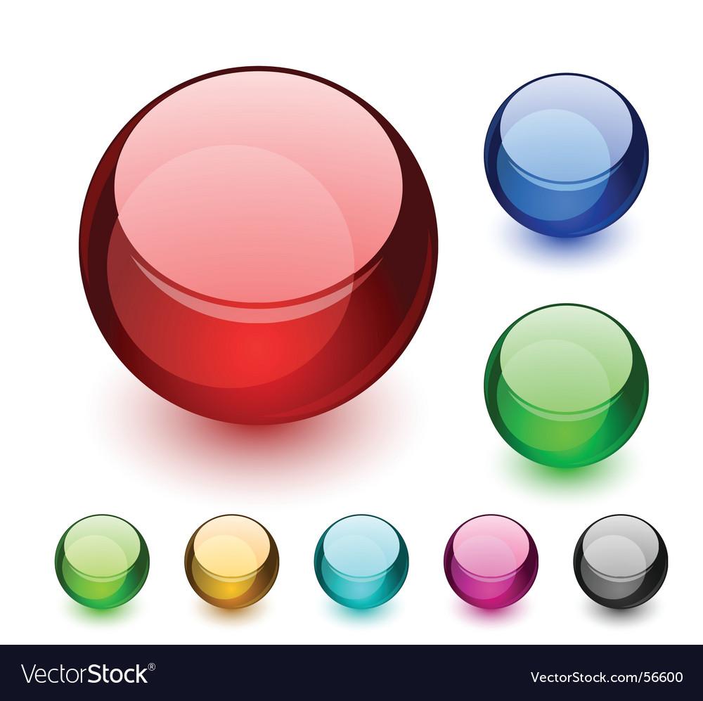 Aqua balls vector image