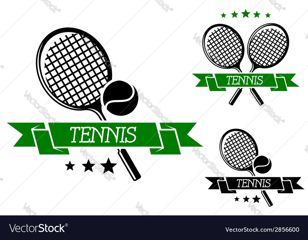 Big tennis sporting emblem