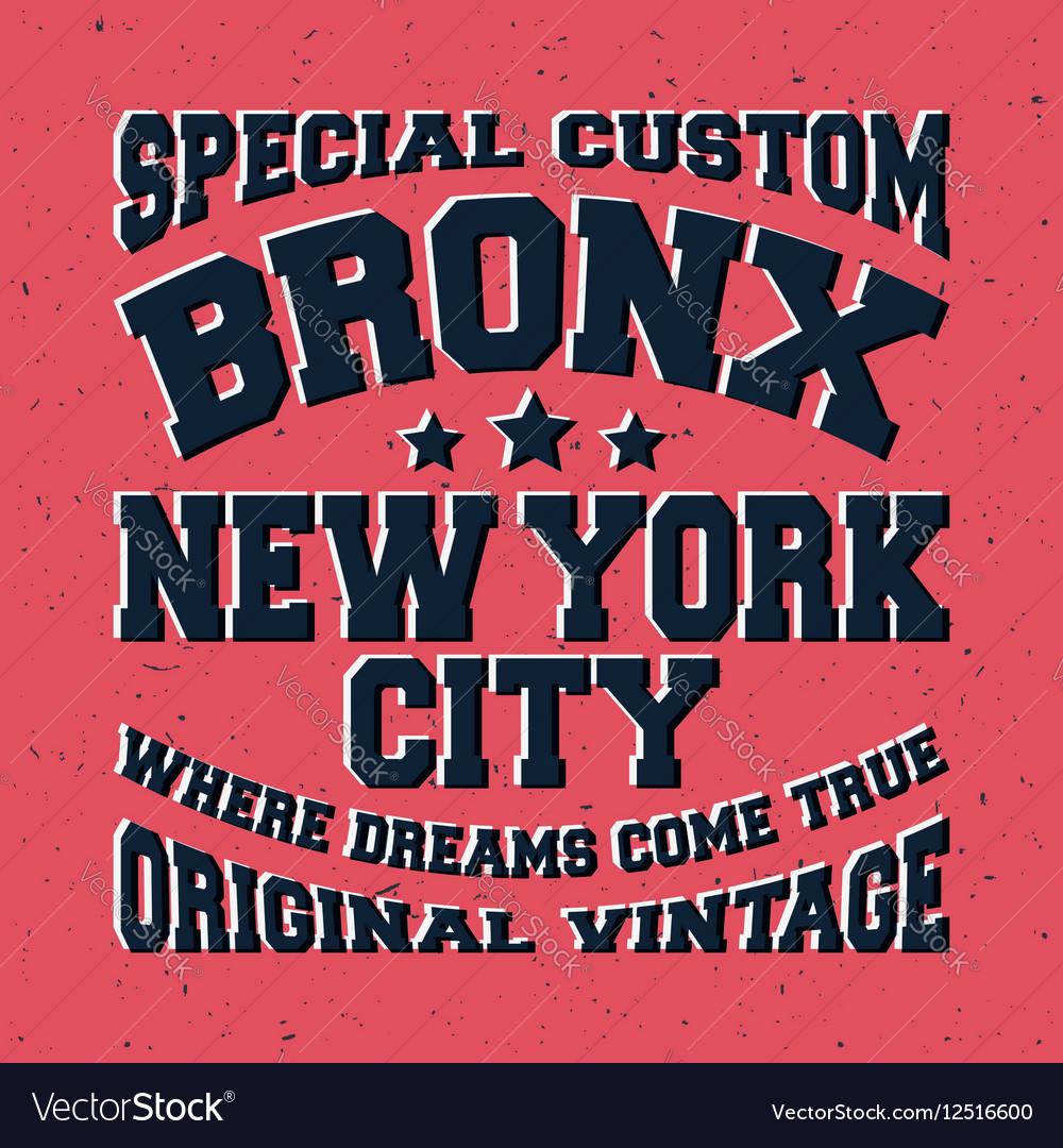 Bronx vintage stamp
