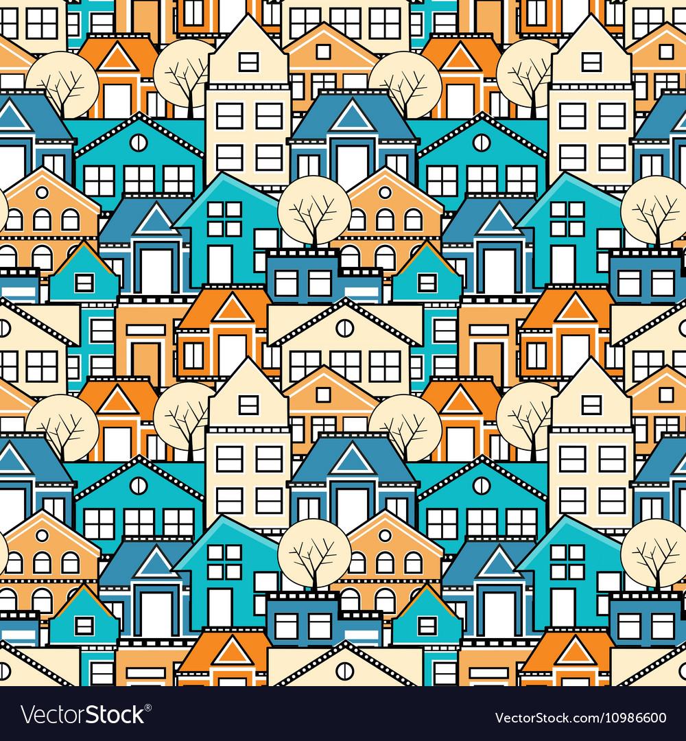 City seamless pattern