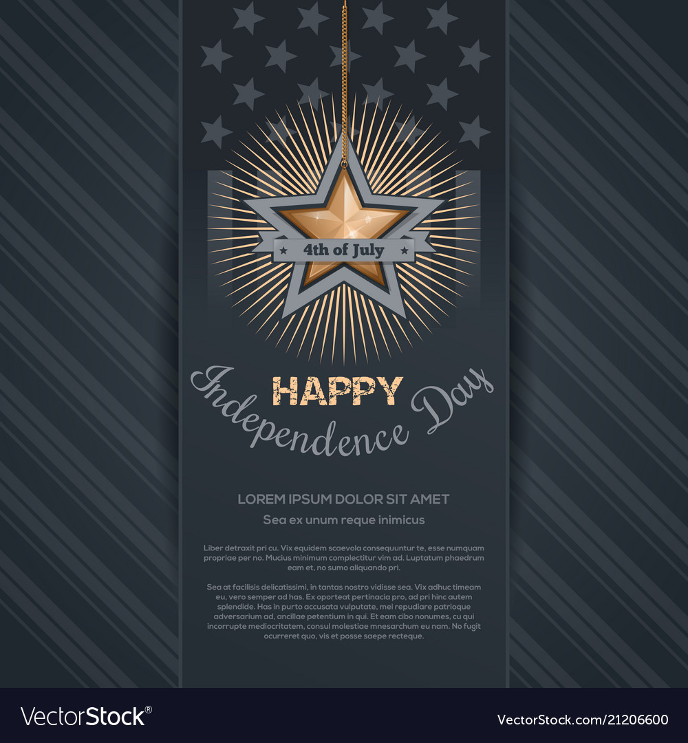 Independence day card 4th of july