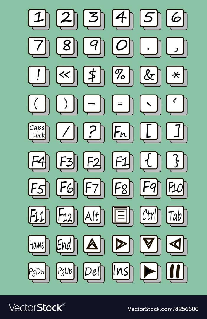 Keyboard symbol vector image