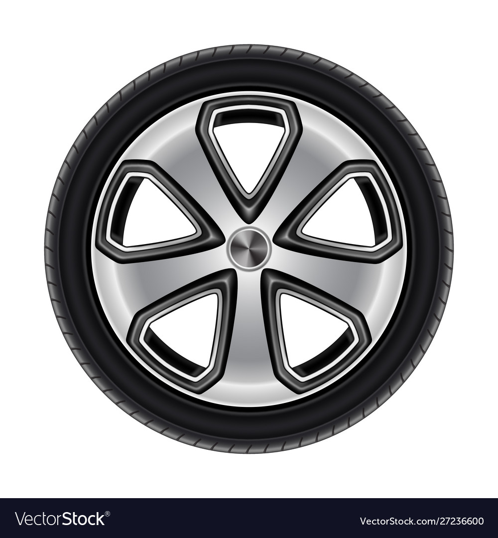 Wheel or tire tyre car or automobile isolated