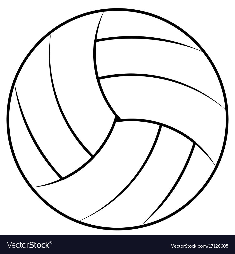 ball for playing beach volleyball royalty free vector image rh vectorstock com volleyball vector art volleyball vector art free
