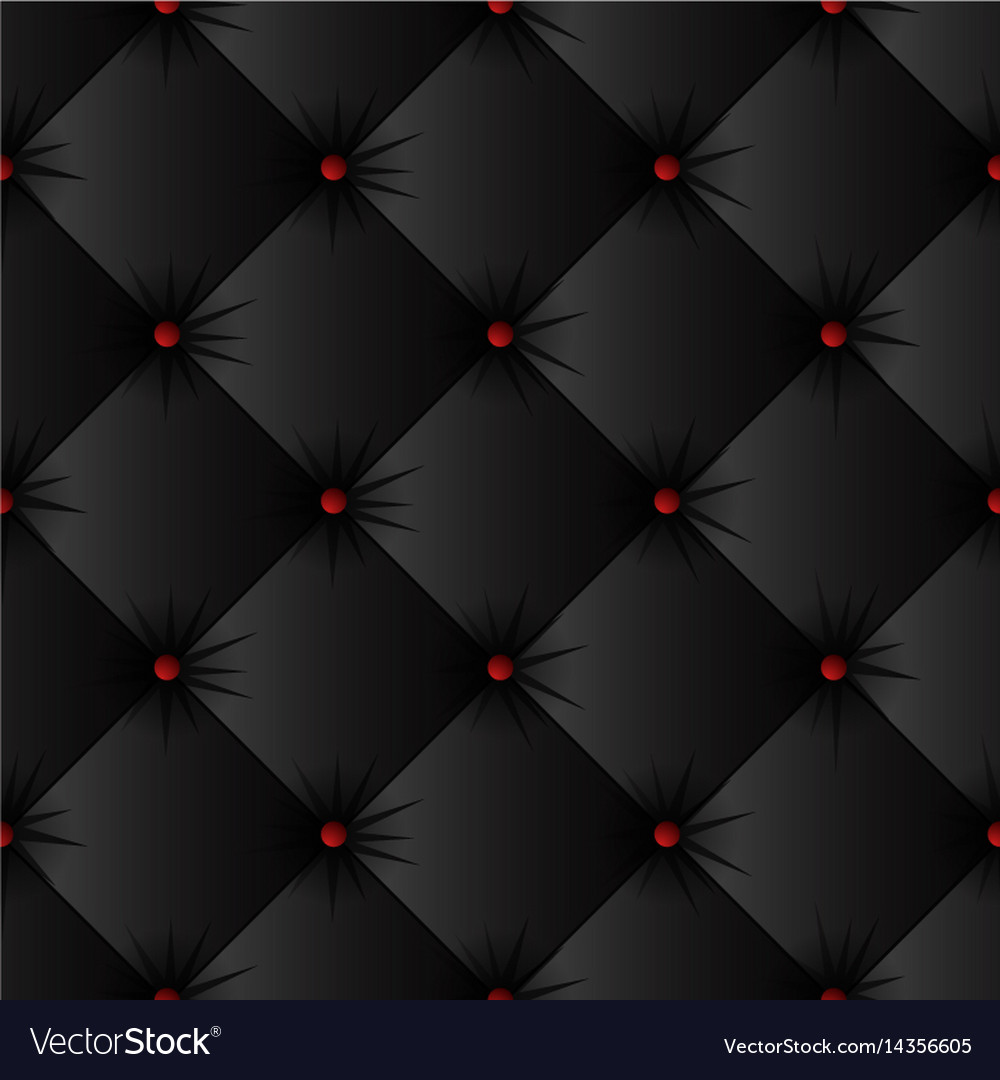 Black upholstery texture seamless pattern