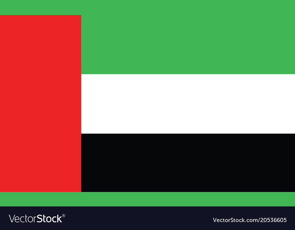 Dubai flag official colors and proportion