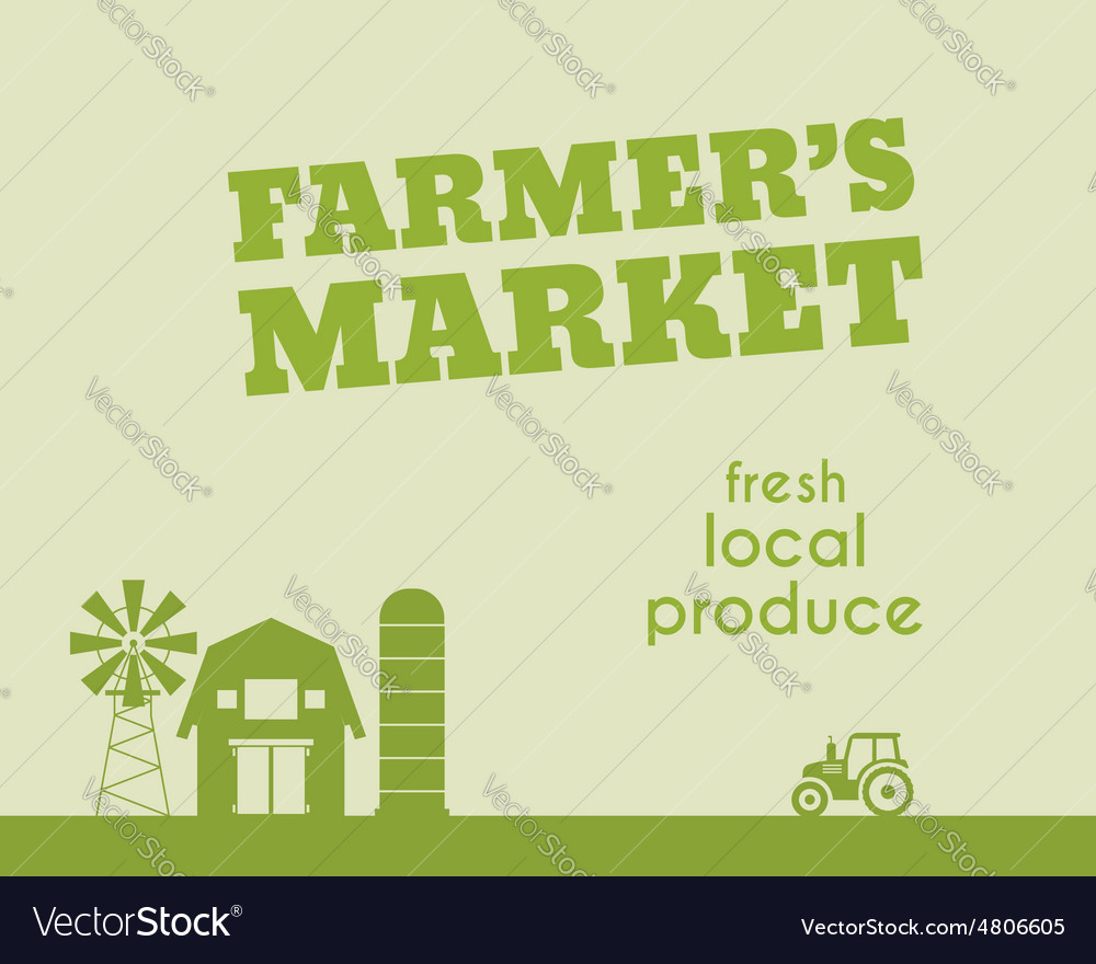 Eco and organic background Farmer s market poster