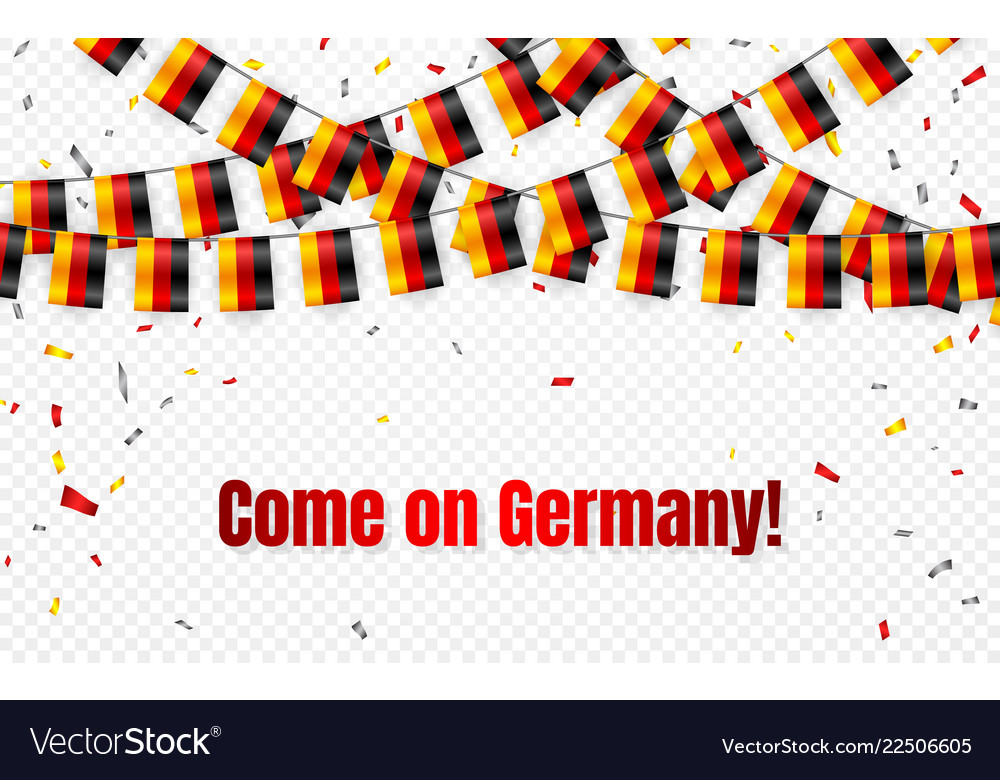 Germany flags garland on transparent background