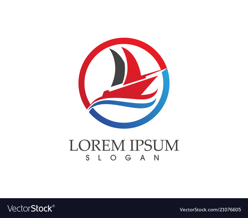 Ocean cruise liner ship silhouette simple linear vector image