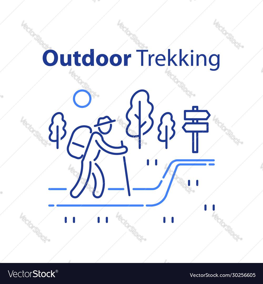 Outdoor trekking concept nature hiking