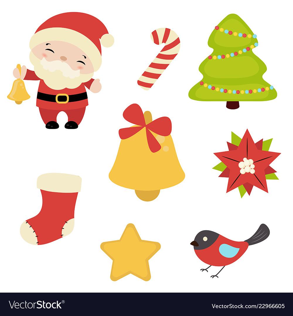 Set of christmas icons set of christmas icons