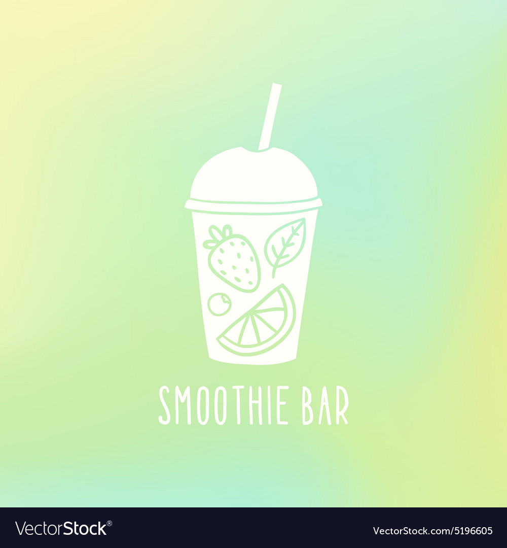 Smoothie bar Cup to go with fruits