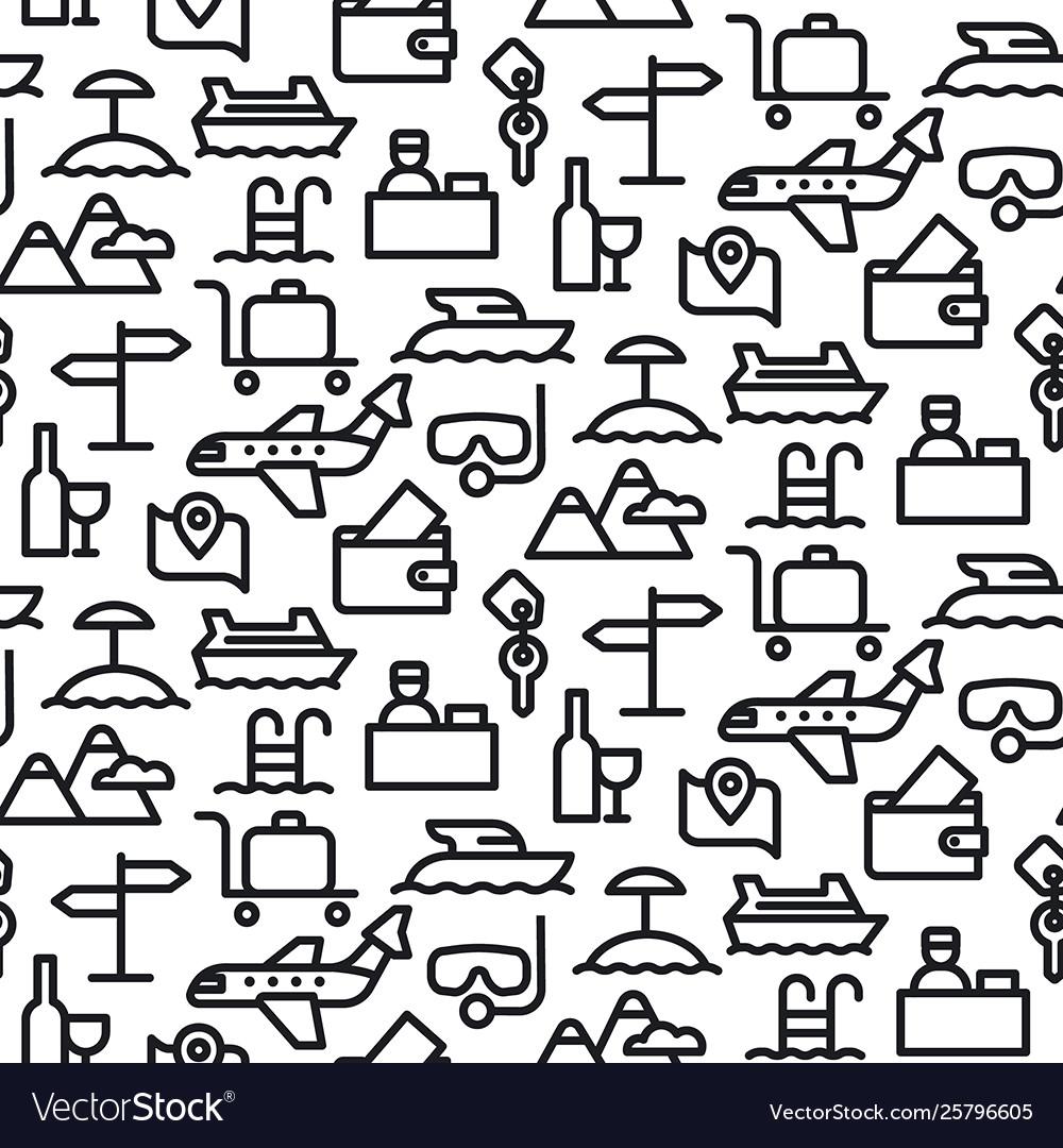 Travel seamles pattern