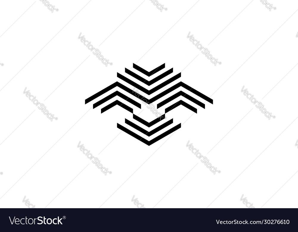 Abstract bird logo design concept