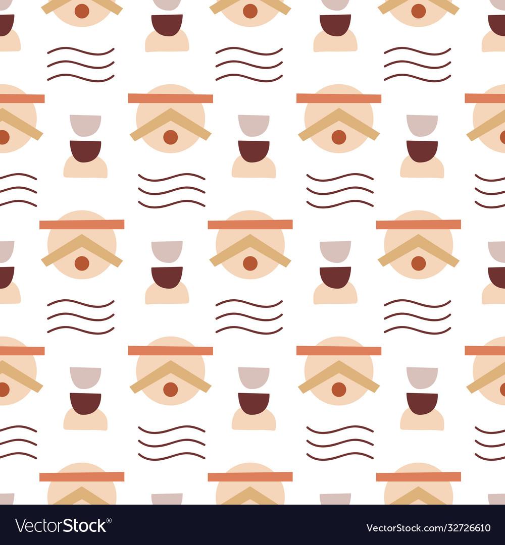 Abstract geometric modern seamless pattern