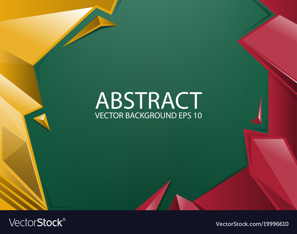 Abstract red yellow green background vector image