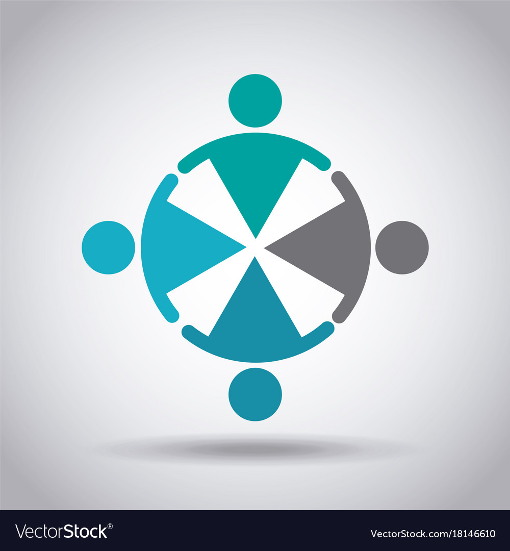 Business emblem design abstract people team