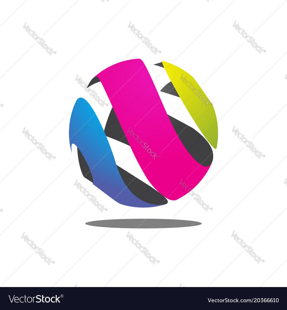 Colorful abstract circle logo