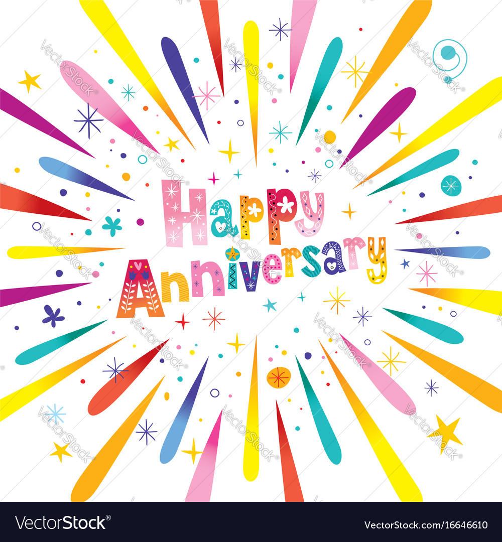 Happy anniversary greeting card royalty free vector image happy anniversary greeting card vector image m4hsunfo