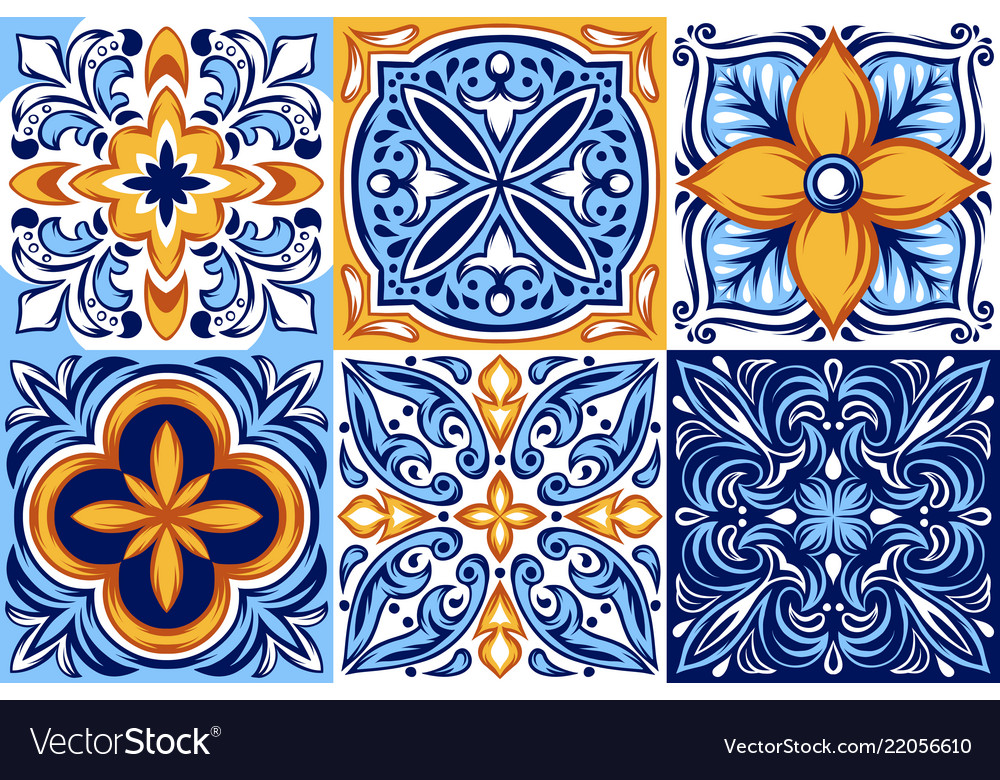 Ceramic Tile Pattern Ethnic Folk