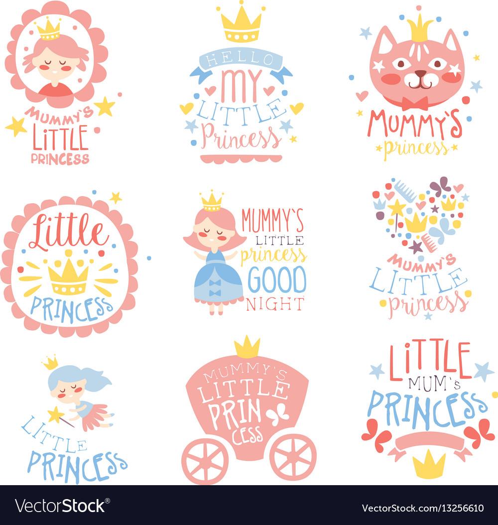 Little princess set of prints for infant girls
