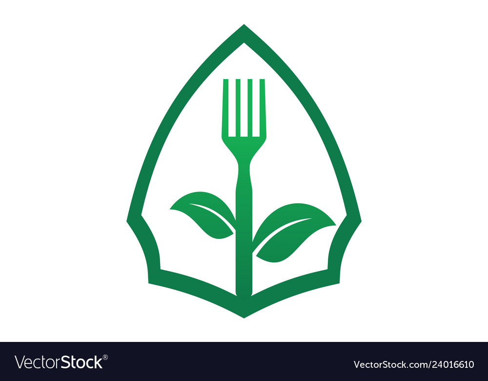 Organic food vegetarians logo icon