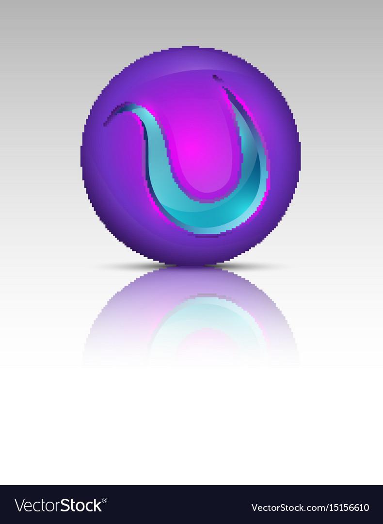 Purple colored circle logo vector image