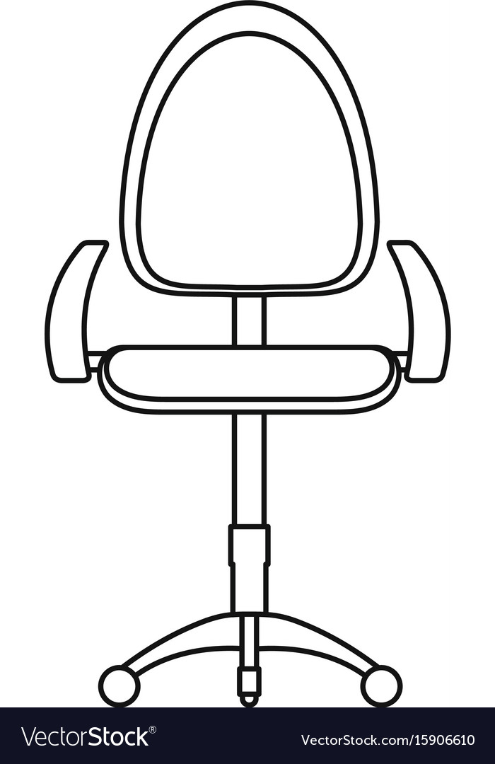 Stool icon outline style