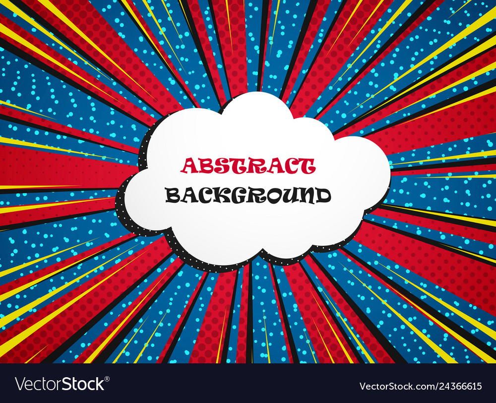 Abstract vivid colorful comic background with