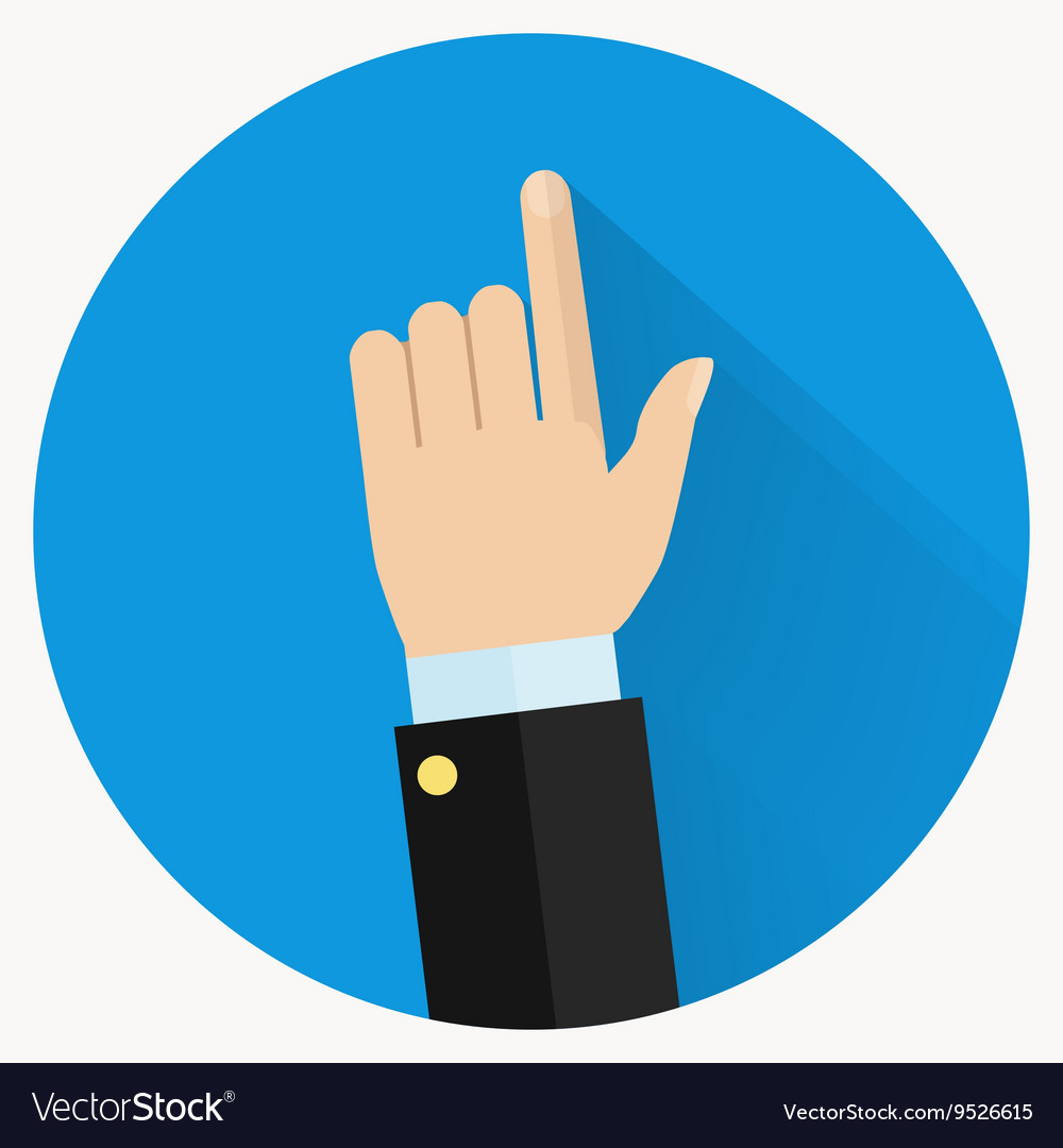 advice icon businessman hand with pointing finger vector image rh vectorstock com pointing finger vector art pointing finger vector graphic