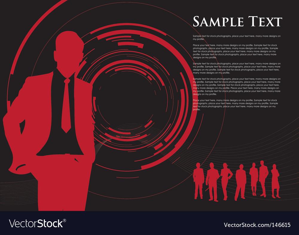 Business camera swirl vector image