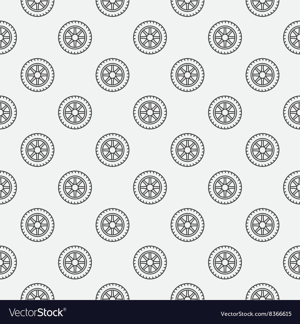 Car wheel seamless pattern vector image