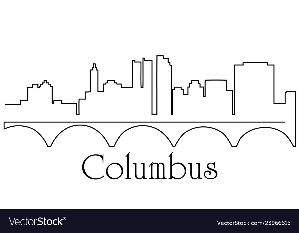 Columbus city one line drawing