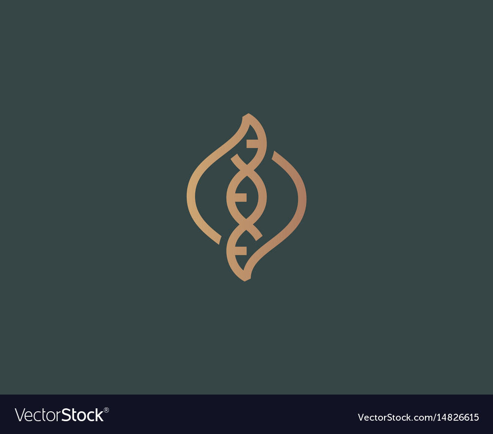 Dna Logo Design Template Modern Medical Royalty Free Vector - Free modern logo templates