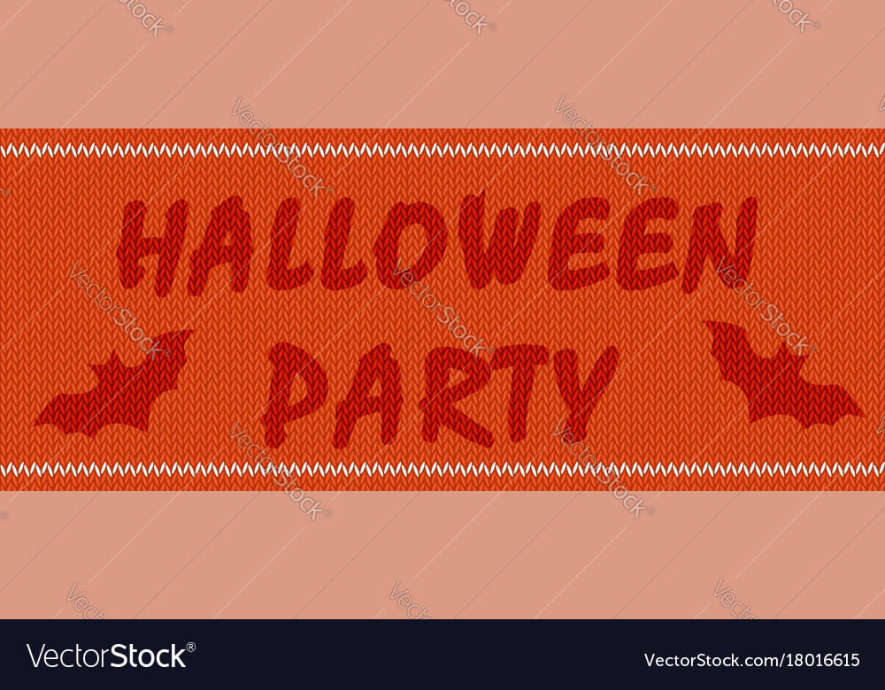 Halloween party on orange