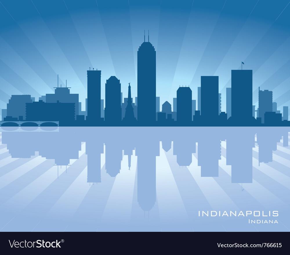 indianapolis indiana skyline royalty free vector image