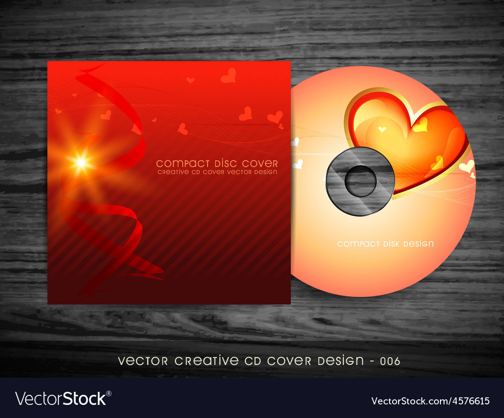 Love style cd design vector image