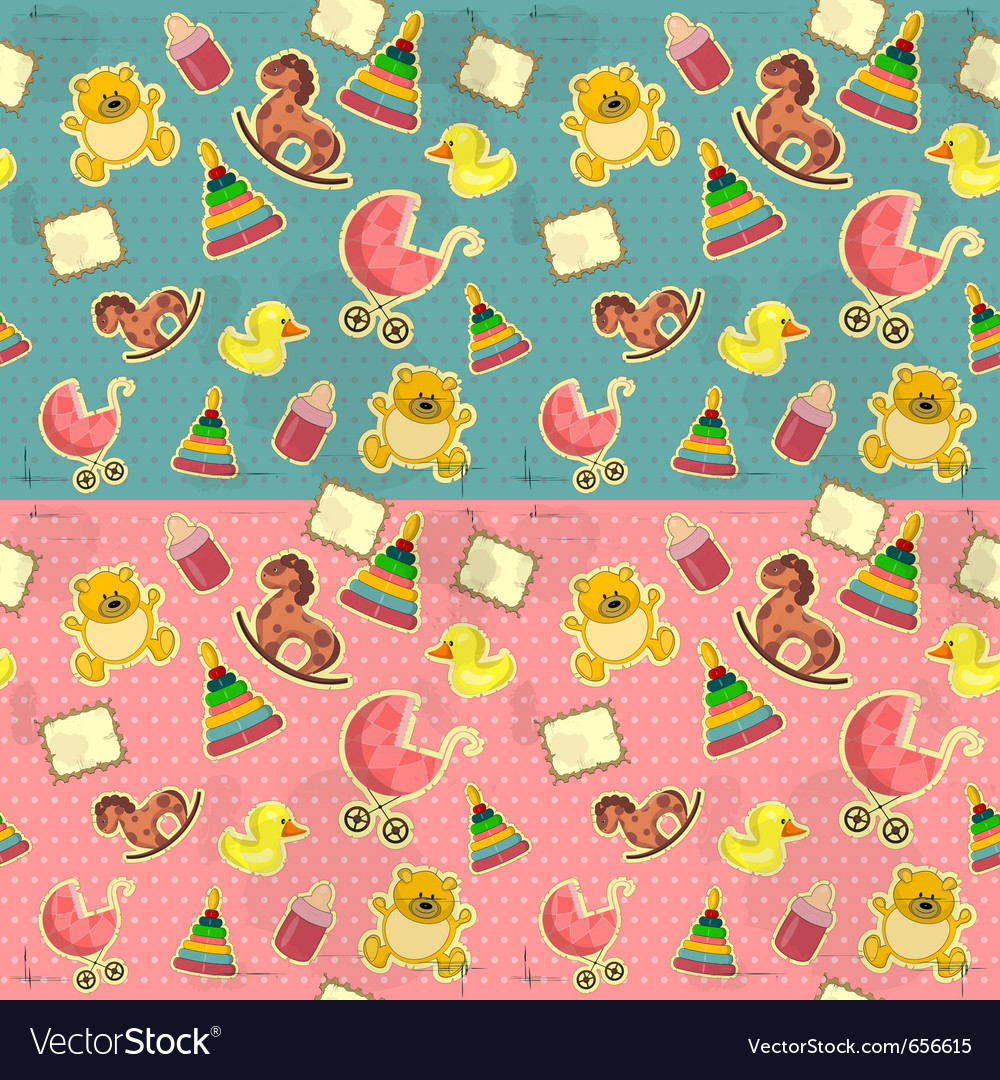 Seamless infant deco pattern