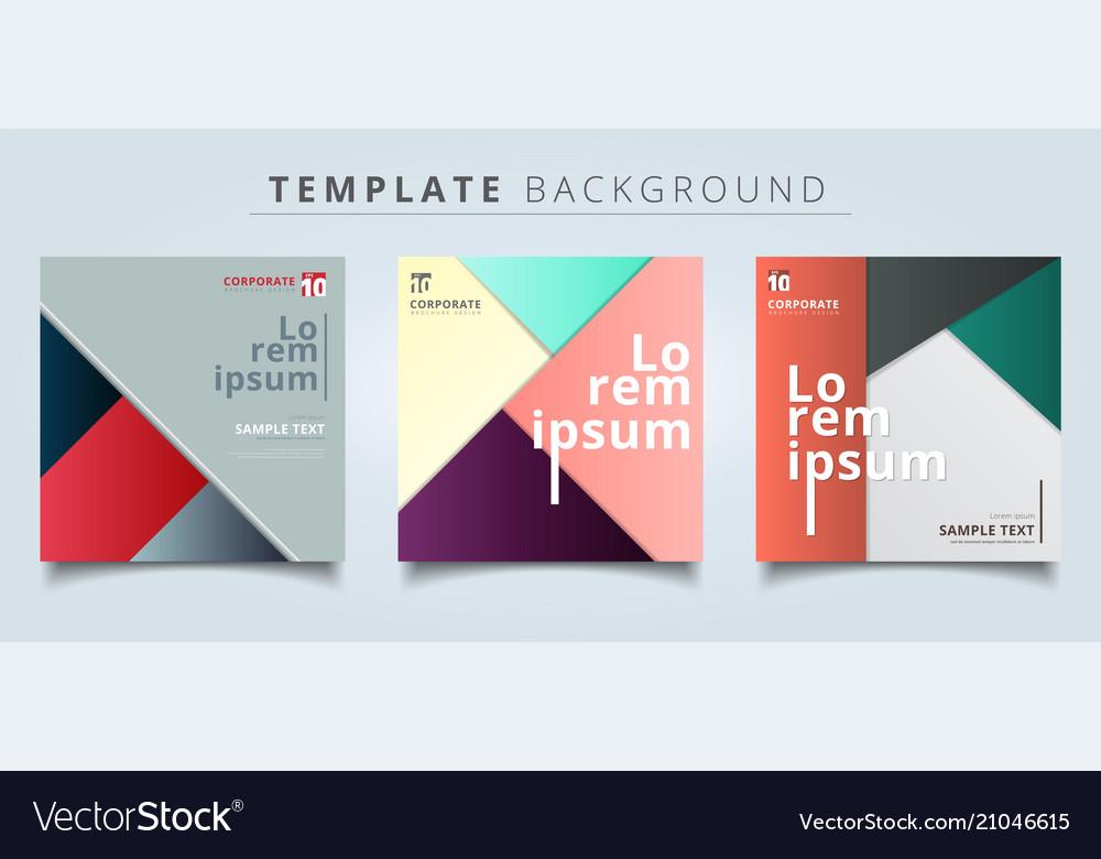 Set of abstract geometric layout minimal style