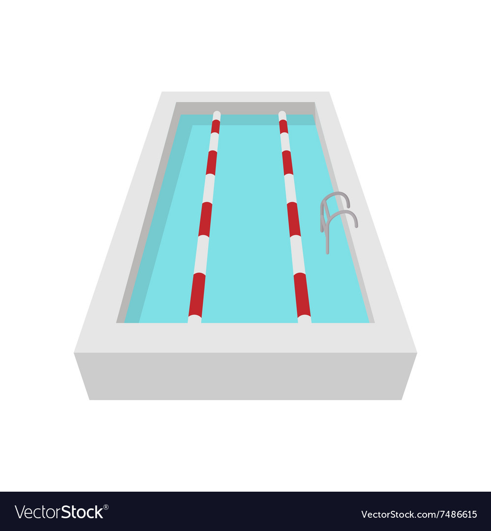 Sport swimming pool cartoon icon