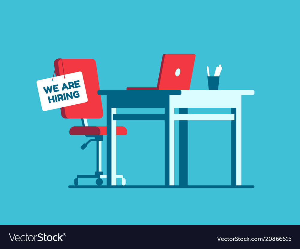 We are hiring employment sign on vacant workplace vector image