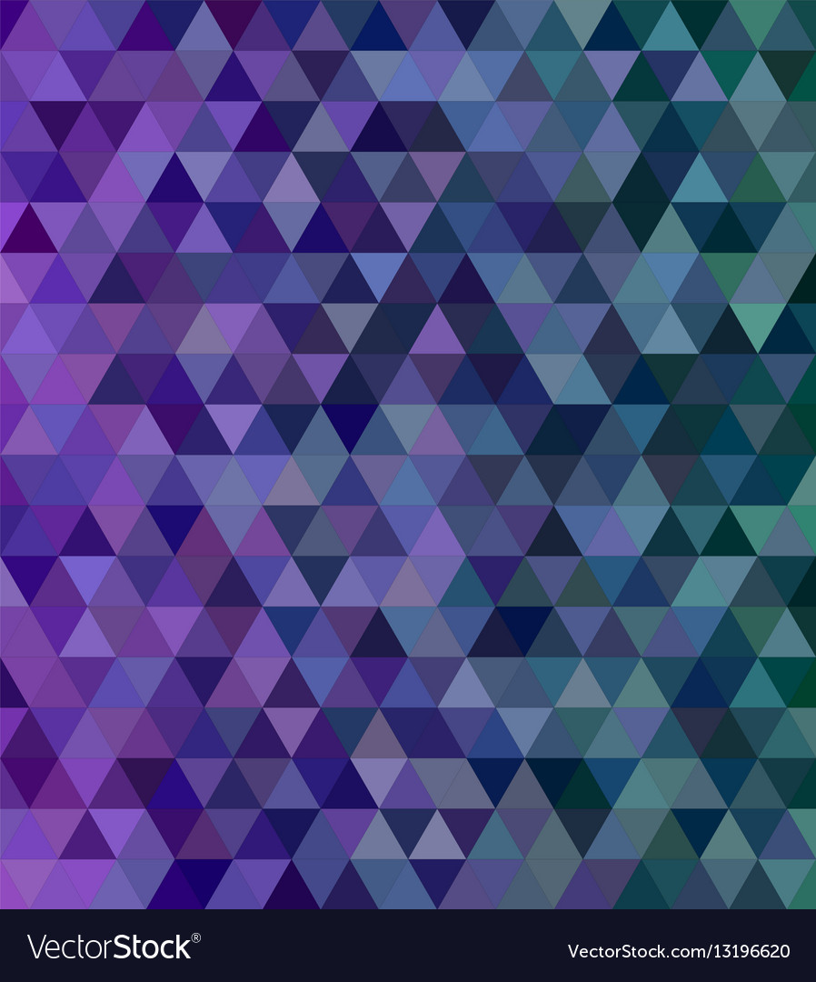 abstract triangle mosaic tile background vector image