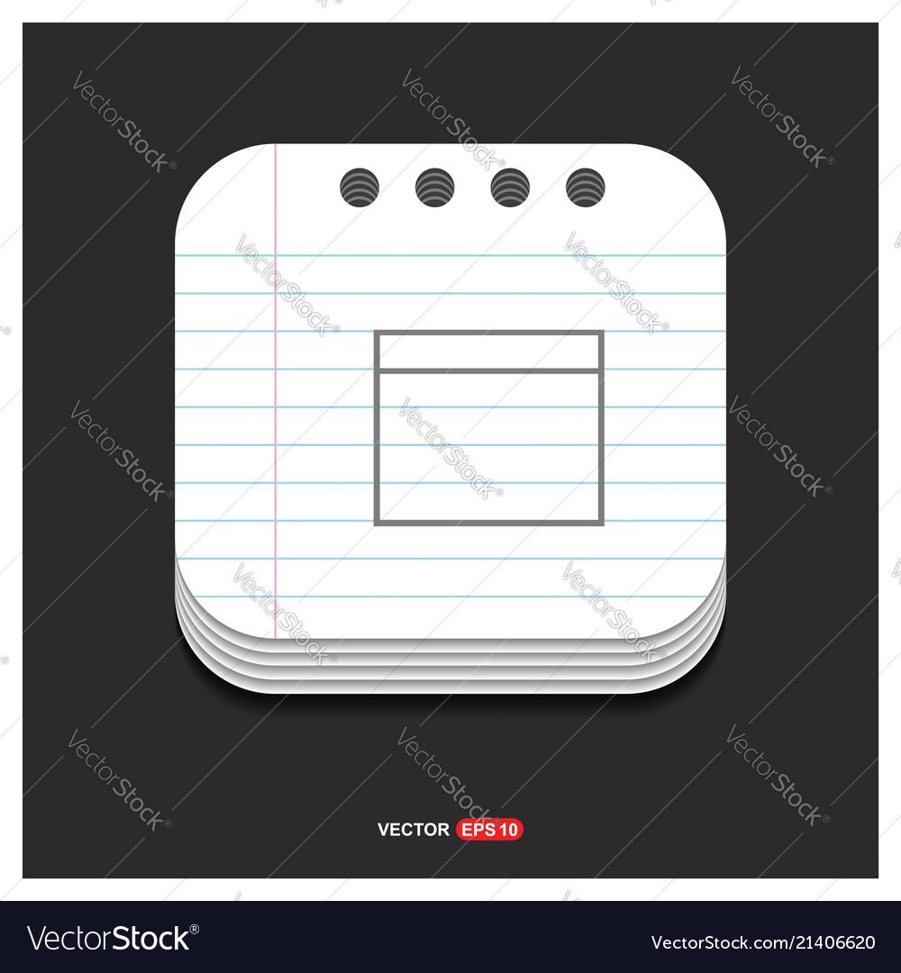 Application window interface icon gray icon on