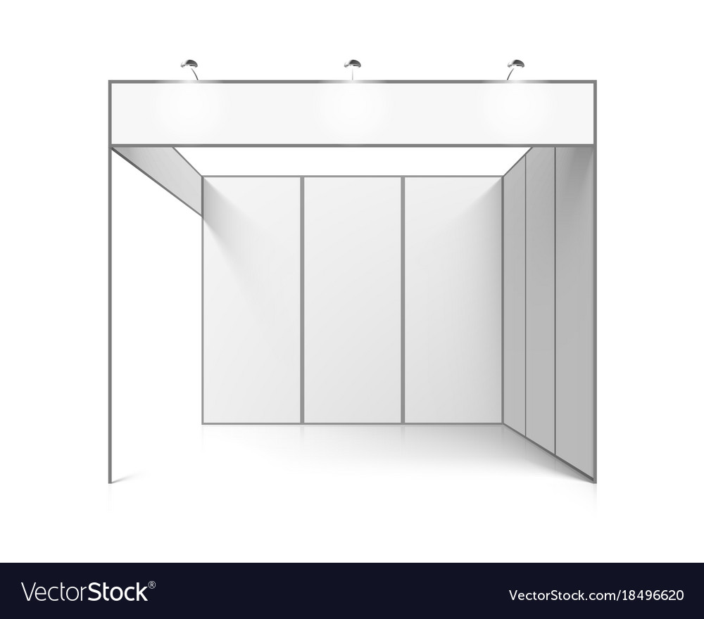 Exhibition Stand White : White indoor trade exhibition booth stand vector images