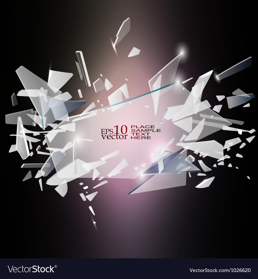 Broken glass design vector image