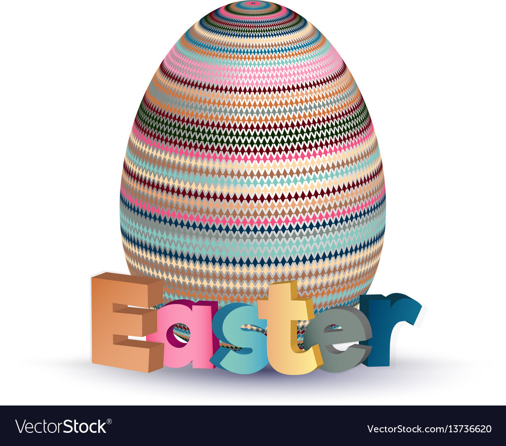 Easter greeting concept eggs with geometric