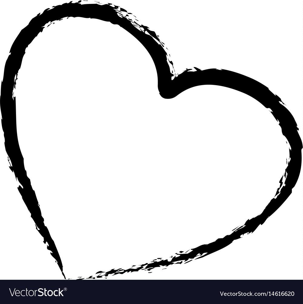 Figure cute heart love icon