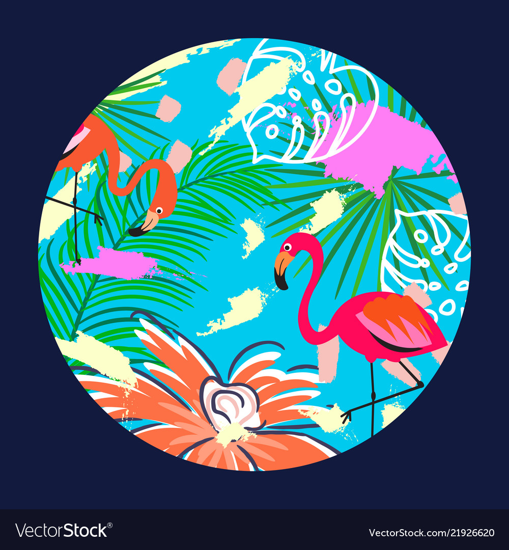 Flamingo in a circle